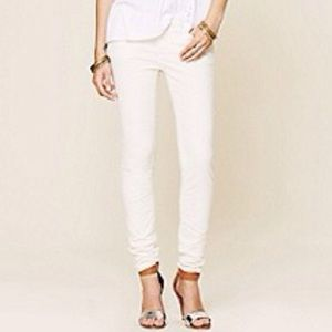Free people white corduroy skinny jeans